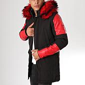 /achat-parkas/mtx-parka-fourrure-807-noir-rouge-160025.html