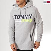 /achat-sweats-capuche/tommy-hilfiger-jeans-sweat-capuche-corp-logo-5539-gris-chine-159974.html