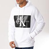 /achat-sweats-capuche/calvin-klein-sweat-capuche-monogram-box-logo-7745-blanc-noir-160200.html