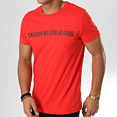 /achat-t-shirts/calvin-klein-tee-shirt-institutional-slim-7856-rouge-160211.html