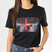 /achat-t-shirts/calvin-klein-tee-shirt-femme-monogram-box-logo-noir-160384.html