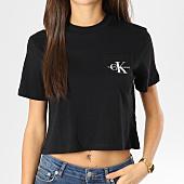 /achat-t-shirts-poche/calvin-klein-tee-shirt-crop-femme-avec-poche-monogram-noir-160391.html