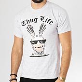 /achat-t-shirts/lapins-cretins-tee-shirt-thug-life-gris-clair-chine-160267.html