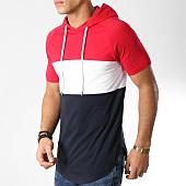 /achat-t-shirts-capuche/lbo-tee-shirt-capuche-oversize-tricolore-519-bleu-blanc-rouge-160387.html