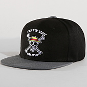 /achat-snapbacks/one-piece-casquette-snapback-skull-noir-gris-160206.html