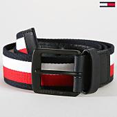 /achat-ceintures/tommy-hilfiger-jeans-ceinture-webbing-4260-bleu-marine-blanc-rouge-160306.html
