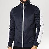 /achat-vestes/urban-classics-veste-zippee-avec-bandes-tb1599-bleu-marine-blanc-160181.html