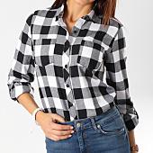 /achat-chemises-manches-longues/urban-classics-chemise-manches-longues-femme-tb1280-noir-carreaux-blanc-160342.html