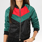 /achat-vestes/urban-classics-veste-zippee-femme-tb1856-noir-vert-rouge-160348.html