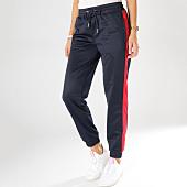 /achat-pantalons-joggings/urban-classics-pantalon-jogging-femme-avec-bandes-tb1857-bleu-marine-rouge-160360.html