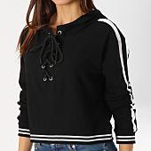 /achat-sweats-capuche/urban-classics-sweat-capuche-femme-crop-avec-bandes-tb1976-noir-blanc-160365.html