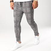 /achat-pantalons-carreaux/john-h-pantalon-a-carreaux-2280-noir-blanc-orange-160477.html