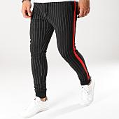 /achat-pantalons-carreaux/john-h-pantalon-jogging-raye-avec-bandes-2276-noir-rouge-160493.html