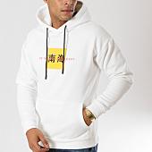 /achat-sweats-capuche/john-h-sweat-capuche-9138-blanc-160505.html