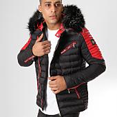 /achat-doudounes/comme-des-loups-doudoune-fourrure-f1865-noir-rouge-noir-160636.html