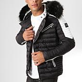 /achat-doudounes/comme-des-loups-doudoune-fourrure-f1865-noir-blanc-noir-160638.html