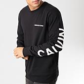 /achat-sweats-col-rond-crewneck/calvin-klein-sweat-crewneck-institutional-back-logo-0343-noir-blanc-160811.html
