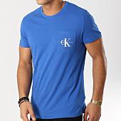 /achat-t-shirts-poche/calvin-klein-tee-shirt-poche-monogram-pocket-slim-1023-bleu-roi-160821.html