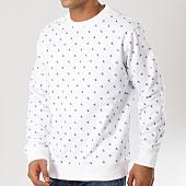/achat-sweats-col-rond-crewneck/calvin-klein-sweat-crewneck-ckj-embroidery-1049-blanc-160823.html