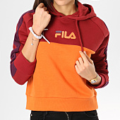 /achat-sweats-capuche/fila-sweat-capuche-femme-landers-orange-rouge-violet-160779.html