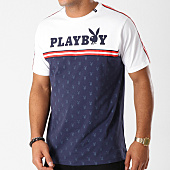 /achat-t-shirts/playboy-tee-shirt-avec-bandes-pattern-bleu-marine-160925.html