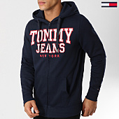 /achat-sweats-zippes-capuche/tommy-hilfiger-jeans-sweat-zippe-capuche-essential-graphic-5147-bleu-marine-160757.html