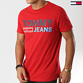 /achat-t-shirts/tommy-hilfiger-jeans-tee-shirt-essential-logo-4528-rouge-160838.html