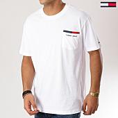 /achat-t-shirts-poche/tommy-hilfiger-jeans-tee-shirt-poche-back-stripe-5560-blanc-160861.html