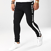 /achat-jeans/sixth-june-jean-skinny-avec-bandes-m3619hde-noir-blanc-161054.html