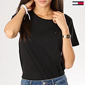 /achat-t-shirts/tommy-hilfiger-jeans-tee-shirt-femme-soft-jersey-noir-160928.html