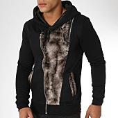 /achat-sweats-zippes-capuche/berry-denim-sweat-zippe-capuche-fourrure-ak001-noir-marron-161167.html