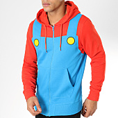 /achat-sweats-zippes-capuche/nintendo-sweat-zippe-capuche-mario-novelty-bleu-clair-rouge-161242.html