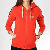 /achat-sweats-zippes-capuche/superdry-sweat-zippe-capuche-avec-bandes-femme-cn-g20952yr-rouge-noir-161172.html
