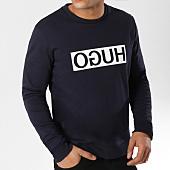 /achat-sweats-col-rond-crewneck/hugo-by-hugo-boss-sweat-crewneck-reverse-logo-dicago-50310522-bleu-marine-161438.html