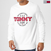 /achat-sweats-col-rond-crewneck/tommy-hilfiger-jeans-sweat-crewneck-circular-5910-blanc-161411.html