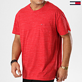 /achat-t-shirts-poche/tommy-hilfiger-jeans-tee-shirt-poche-texture-5524-rouge-chine-161472.html