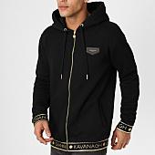 /achat-sweats-zippes-capuche/gianni-kavanagh-sweat-zippe-capuche-black-scuba-noir-dore-161605.html