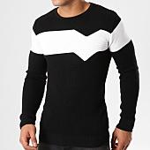 /achat-pulls/john-h-pull-jh-002-noir-blanc-161620.html