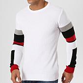 /achat-pulls/john-h-pull-jh-006-blanc-noir-rouge-161646.html