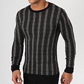 /achat-pulls/john-h-pull-jh-003-noir-gris-anthracite-161655.html