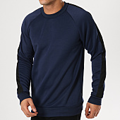 /achat-sweats-col-rond-crewneck/only-and-sons-sweat-crewneck-avec-bandes-tinus-bleu-marine-noir-161702.html