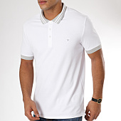 /achat-polos-manches-courtes/guess-polo-manches-courtes-m91p09-k7o60-blanc-gris-chine-161793.html