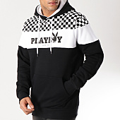 /achat-sweats-capuche/playboy-sweat-capuche-checker-noir-161795.html