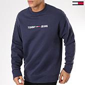 /achat-sweats-col-rond-crewneck/tommy-hilfiger-jeans-sweat-crewneck-small-logo-5147-bleu-marine-161835.html