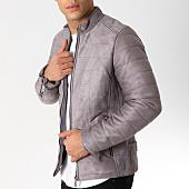 /achat-vestes/classic-series-veste-zippee-suedine-507-gris-161922.html