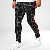 /achat-pantalons-carreaux/classic-series-pantalon-carreaux-avec-bandes-f2510-noir-blanc-rouge-161947.html
