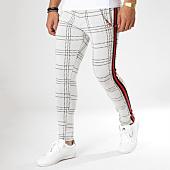 /achat-pantalons-carreaux/black-needle-pantalon-carreaux-avec-bandes-f2510-ecru-noir-rouge-161948.html