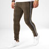 /achat-pantalons-carreaux/black-needle-pantalon-carreaux-avec-bandes-f2510-vert-kaki-noir-blanc-161949.html