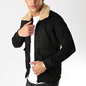 /achat-vestes/classic-series-veste-zippee-suedine-col-mouton-415-noir-161960.html