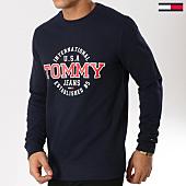 /achat-sweats-col-rond-crewneck/tommy-hilfiger-jeans-sweat-crewneck-circular-5910-bleu-marine-162071.html